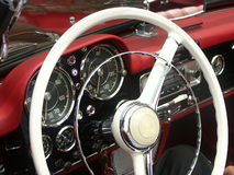 Classic car steering wheel Stock Photography
