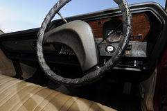 Old steering wheel Royalty Free Stock Images