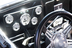 Classic car steering wheel Royalty Free Stock Images