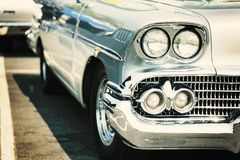 Classic car street display royalty free stock photos