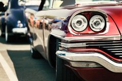 Classic car street display royalty free stock images