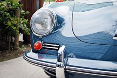 Classic car. Super Sport Racing Car Detail on a Wheel and Breaks Royalty Free Stock Photo