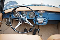 Classic car. Super Sport Racing Car Detail on a Wheel and Breaks Stock Images