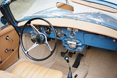Classic car. Super Sport Racing Car Detail on a Wheel and Breaks Stock Photography