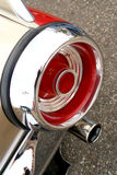 Classic Car Tail Light. Classic Car at auto show. round red tail light Stock Image
