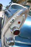 Classic car tail lights. Classic sky blue car tail lights stock images