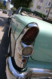 Classic car tail lights. Classic green car tail lights stock photos
