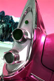 Classic car tail lights. Classic pink car tail lights royalty free stock image