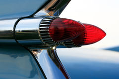 Classic Car Tail Lights. American classic car bullet style tail lights royalty free stock photo