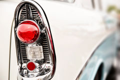 Classic car tail lights. Close-up of classic car tail lights stock photos