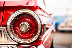 Classic car tail lights. Close-up of classic car tail lights stock photography