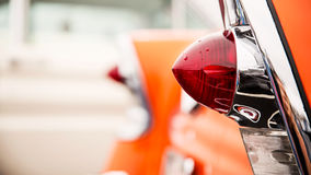Classic car tail lights. Close-up of classic car tail lights stock image