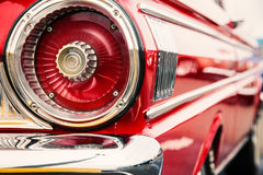 Classic car tail lights. Close-up of classic car tail lights royalty free stock photography