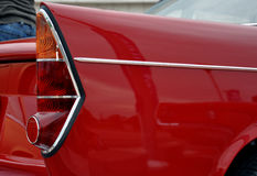 Classic car tail lights. Classic red car tail lights,exhibition in Belgrade, Serbia royalty free stock photography