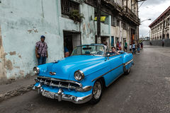 Classic Car Tour of Old Havana Stock Image
