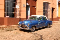 Classic Car in Trinidad, Cuba Stock Images