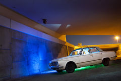 Classic Car under bridge Royalty Free Stock Photo