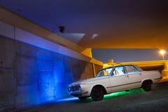 Classic Car under bridge Royalty Free Stock Photo