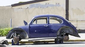 Free Classic Car Vandalized Stock Photos - 121048833