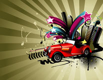 Classic car vector composition Royalty Free Stock Photo