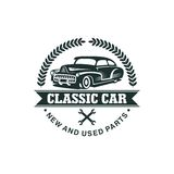 Classic Car Vector Template Royalty Free Stock Images