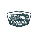 Classic Car Vector Template. With Background Royalty Free Stock Photography