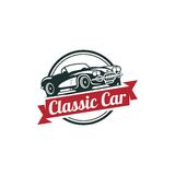 Classic Car Vector Template Royalty Free Stock Photography