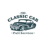 Classic Car Vector Template Royalty Free Stock Photo