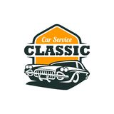 Classic Car Vector Template Stock Image