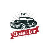 Classic Car Vector Template Stock Photos