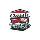 Classic Car Vector Template Stock Images