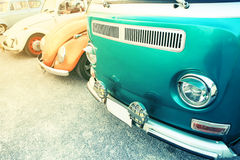 Classic car in vintage color filtered. Stock Image