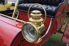 1900s Classic american car vintage headlamp. Classic American car vintage headlamp cadillac close up 1903 Cadillac model a at boca raton concours delegance at Royalty Free Stock Image
