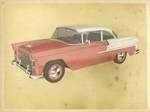 Classic Car Vintage Poster Illustration stock illustration