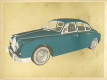 Classic Car Vintage Poster Illustration Stock Photography