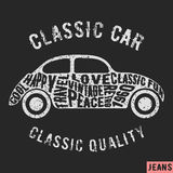 Classic Car Vintage Stamp Stock Photography
