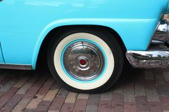 Classic Car Wheel Stock Photography