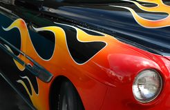 Free Classic Car With Flame Decorations Royalty Free Stock Photos - 11096088