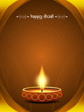 Classic card design for diwali festival. With beautiful lamp. vector illustration stock illustration