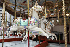 Classic carousel horses Stock Photos