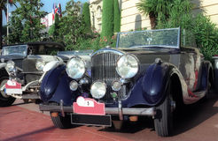 Classic cars. In Monte-Carlo rally Stock Photos