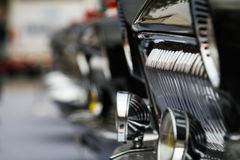 Classic cars. Close-up of the first part of Stock Image