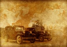Classic Cars Background Royalty Free Stock Images