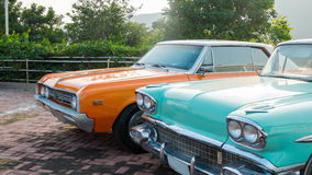 The classic cars Royalty Free Stock Photo