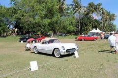 Classic cars at boca raton resort. Classic american cars on display at golf course, Boca Raton Councours at the grounds of the Boca Raton Resort, south Florida Stock Photo