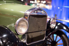 Classic cars. Close-up of the first part of Stock Photos