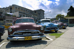 Classic cars at Cuba Stock Photos