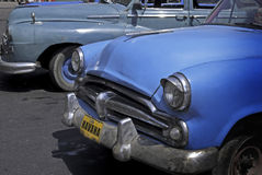 Classic cars at Cuba. Class American Cars parked at Old Havana, Cuba Stock Images
