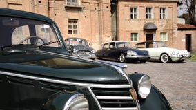Classic cars, dolly grip stock video footage
