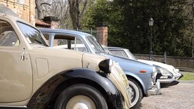 Classic cars, dolly grip stock footage